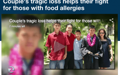 Couple's tragic loss helps their fight for those with food allergies