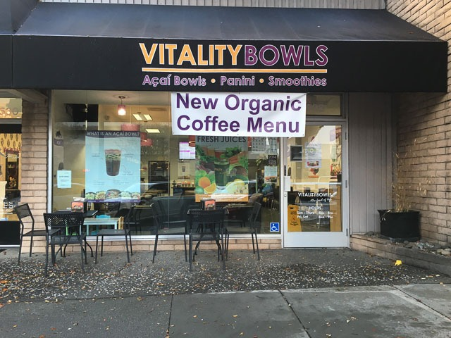 New Coffee Menu Available at Vitality Bowls in Downtown Walnut Creek