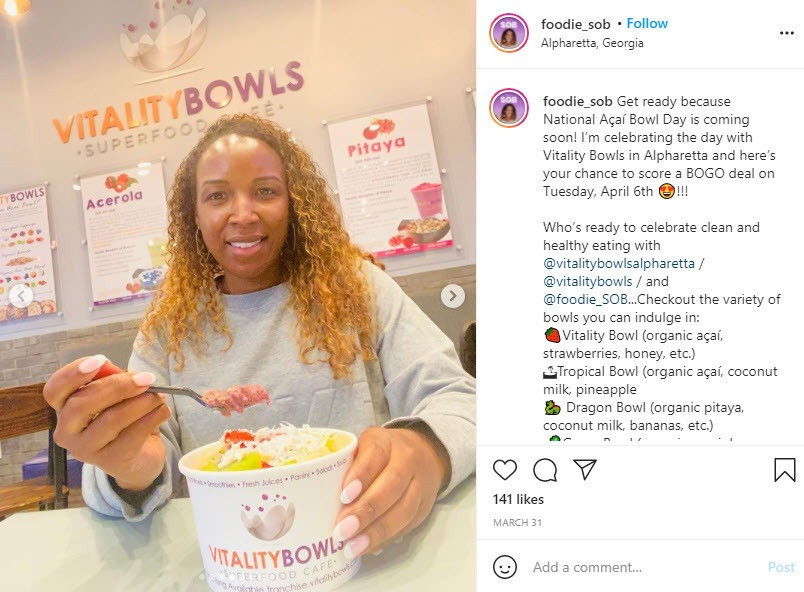 @foodie_sob Posts About Vitality Bowls on Instagram